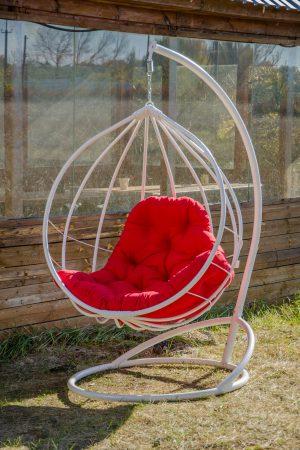 Подвесное кресло Адель белое