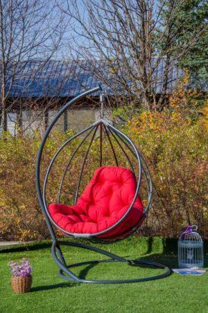 Кресло подвесное для улицы без плетения
