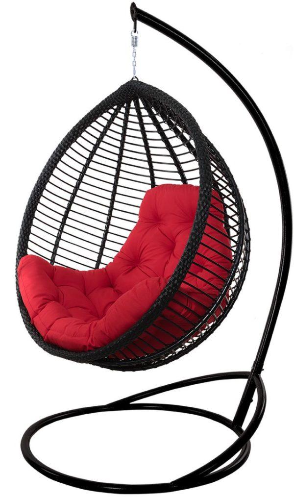 подвесное кресло плетёное толстым ротангом