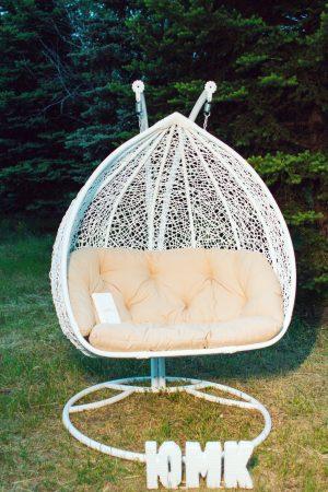 Подвесное кресло Дабл белый от ЮМК