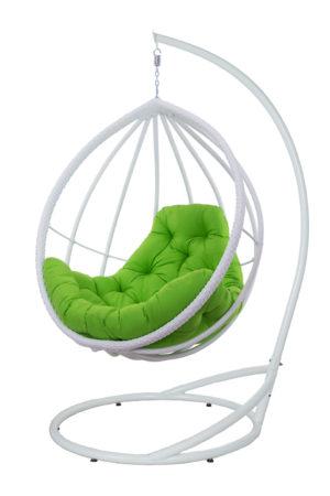 подвесное кресло с плетение по каркасу