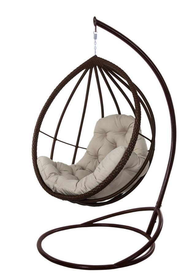 подвесное кресло Хелена в шоколадном ротанге