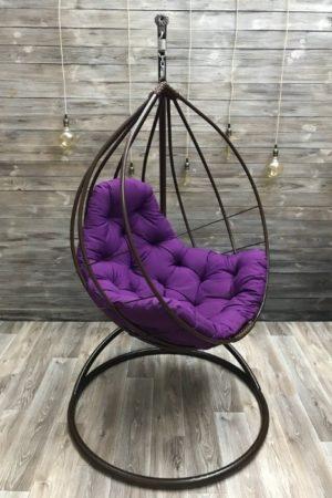 стальное подвесное кресло без плетения Адель