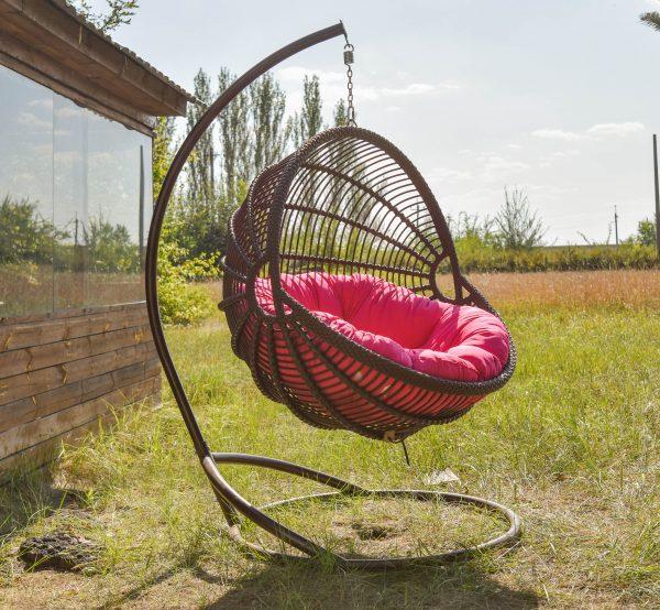 підвісне крісло для відпочинку Арієльт коричневе