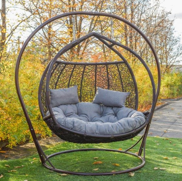 Подвесное кресло Галант ЮМК шоколад с серым
