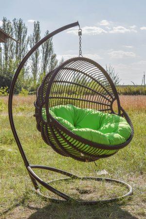 купити крісло кокон в коричневому кольорі