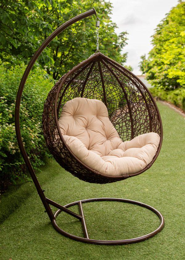 кресла подвесные эмилия в цвете шоколад