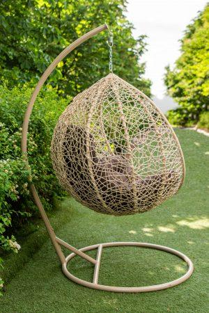 Кресло кокон с плетением паутинкой