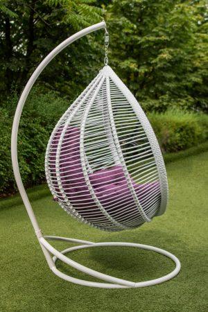 кріселко яйце з штучного ротангу