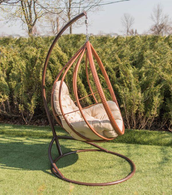 подвесное кресло хелена коньяк