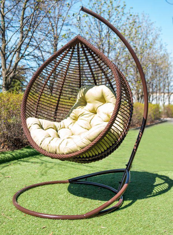 крісло кокон Кит з штучного ротангу