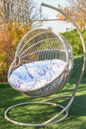 Ариэль кресло подвесное с подушкой в цветочек
