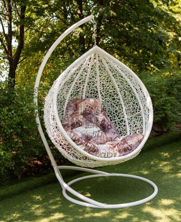 Великий крісло кокон з ротангу ЮМК