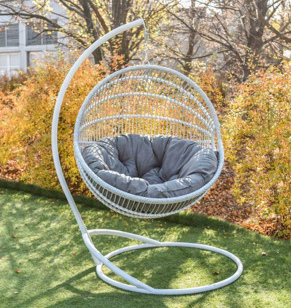 кресло кокон Ариэль со стойкой цвет берёза