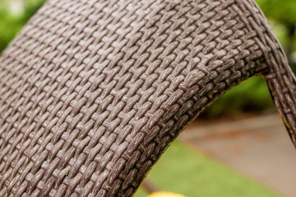 плетение широким ротангом на подвесном кресле комфорт люкс