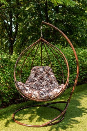 кресло кокон подвесное из металла Адель круглое