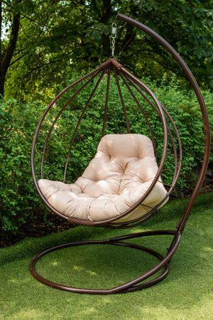 кресло кокон качели подвесные круглые из метала