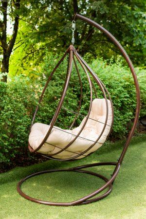 кресло качель для сада в форме кокона
