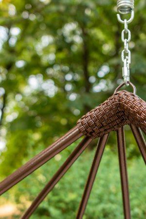 плетение на кресле коконе адель в месте сварки