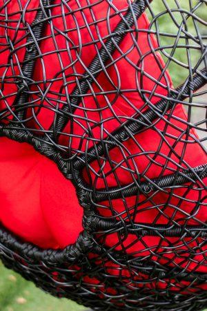 плетёное сиденье подвесного кресла