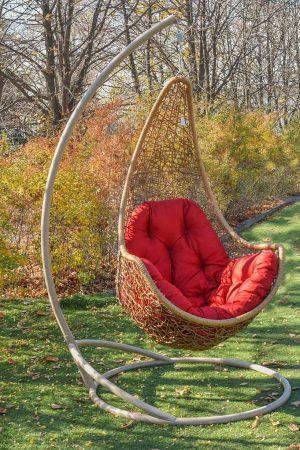подвесные кресла качели Леди лоза с красным