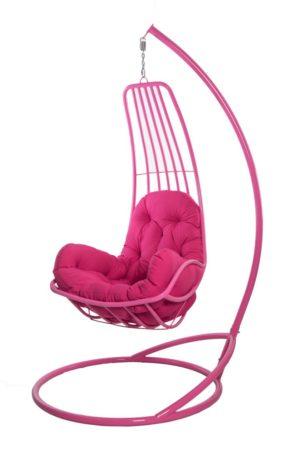 розовое подвесное кресло гамак