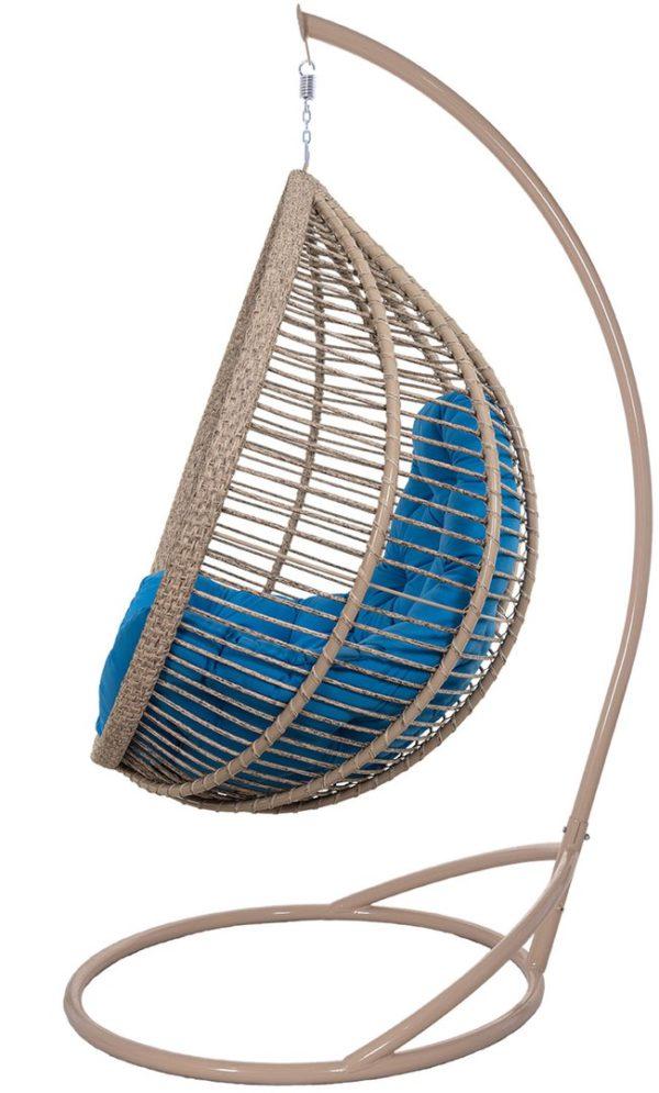 Подвесное кресло Кит верба с синим