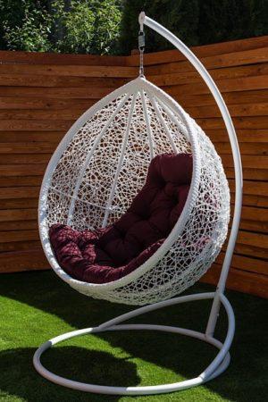 кресло кокон подвесное с практичной подушкой бардо