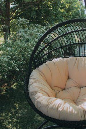 чёрное кресло кокон гамак подвесной
