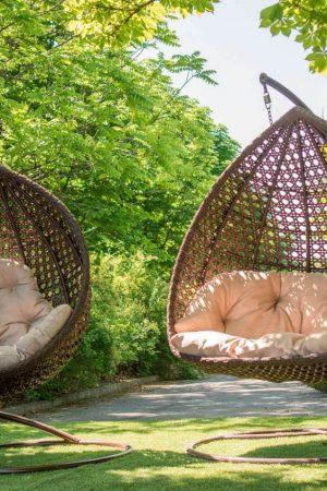 Кресла подвесные Дабл и Асоль цвет тик