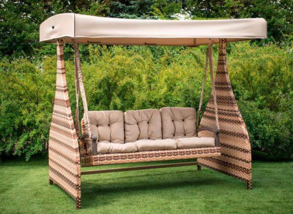 качеля диван с крышей Ривьера Премиум