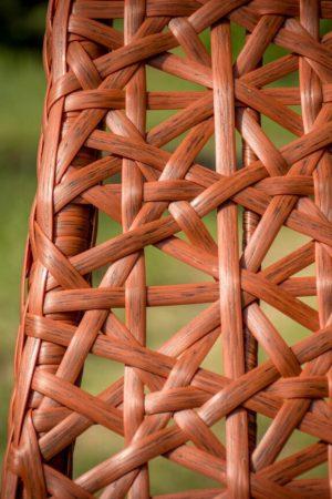 плетение ротангом каштан на кресле гамаке