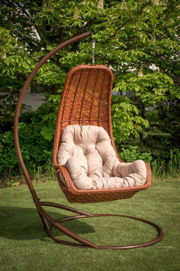 подвесное кресло багама цвет каштан беж