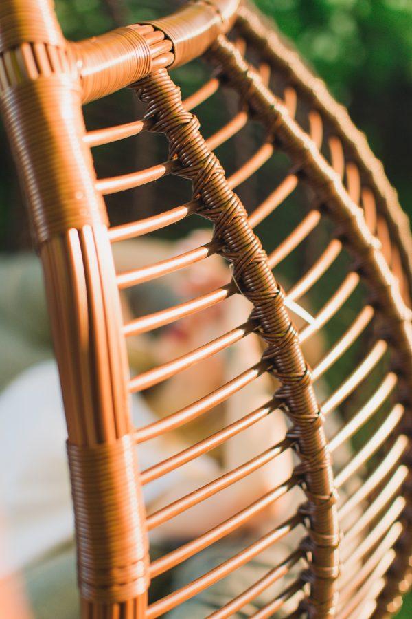 Горизонтальное плетение на подвесном кресле Галант премиум