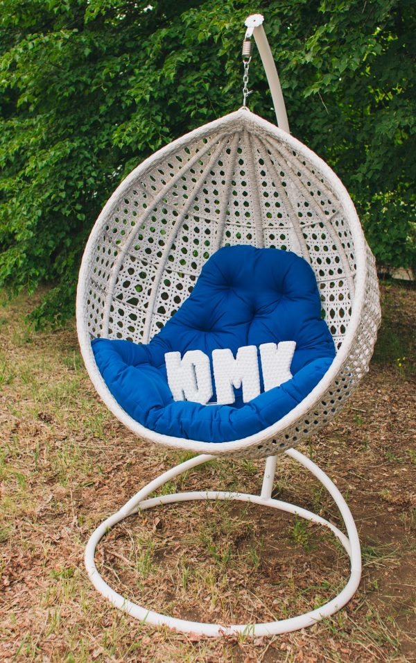 Кресло подвесное Асоль цвет берёза с синим