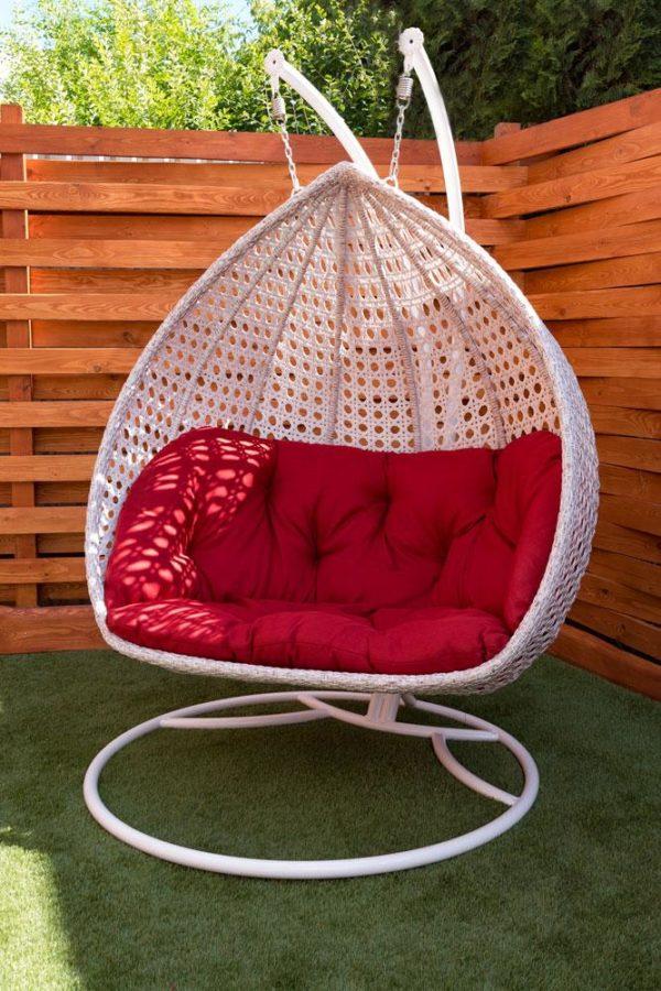 двухместное подвесное вип кресло Дабл премиум
