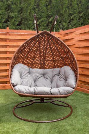 крепкое подвесное кресло для двоих