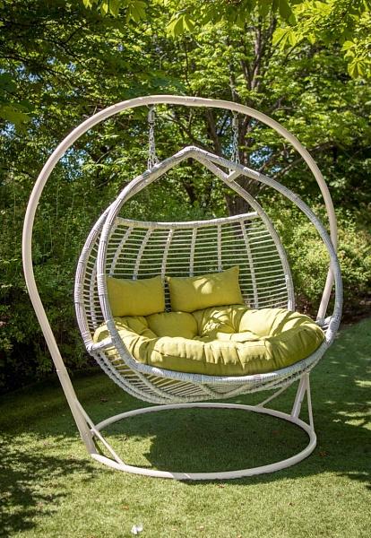 Подвесное кресло Галант цвет берёза с оливкой