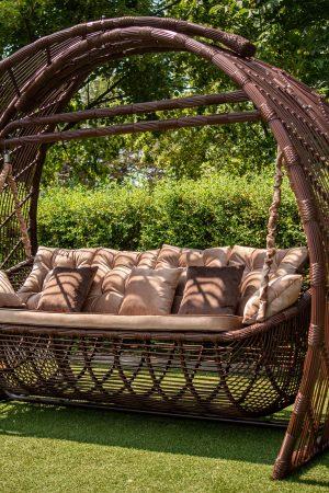 Качели Мароу с велюровыми подушками