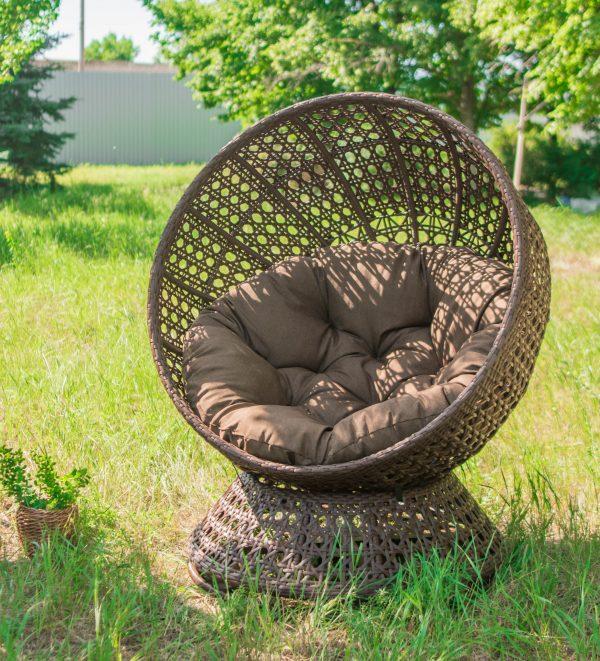 Кресло кокон стационарное Верона шоколад