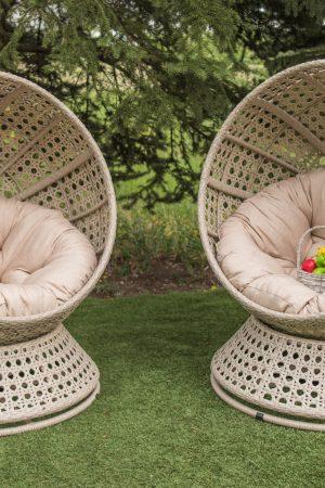 Круглые кресла коконы без стойки