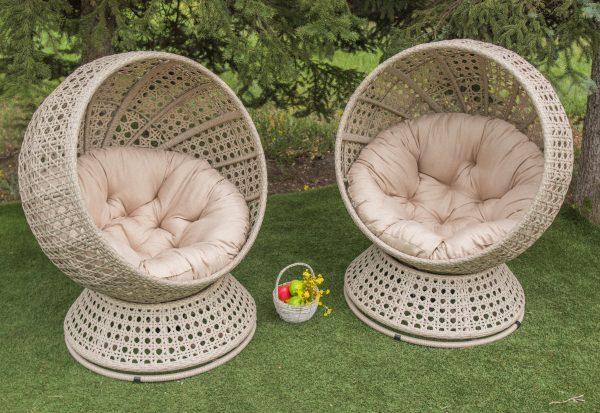 поворотные круглые кресла шары