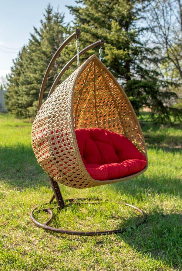 Подвесное кресло кокон на стойке Дабл Премиум