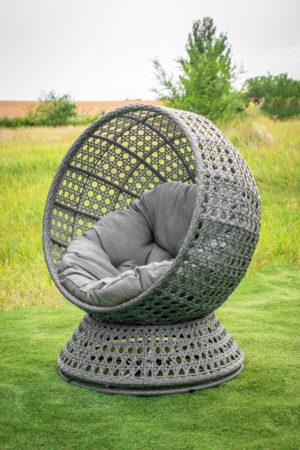 Поворотное кресло из ротанга Верона