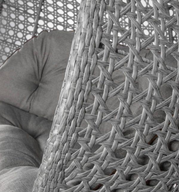 серый ротанг на подвесном кресле с усиленным ободом