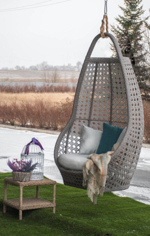 Савана серое подвесное кресло