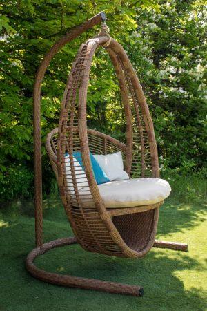 Большое плетёное подвесное кресло Кристи