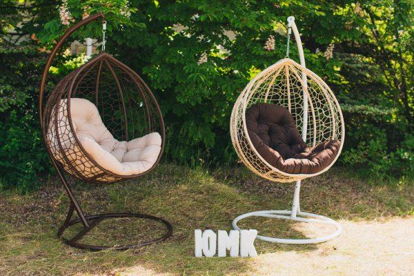 Підвісні крісла кокони з штучного ротангу ЮМК