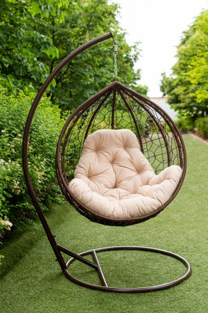 подвесное кресло кокон из ротанга дёшево