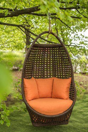 премиум кресло Савана ЮМК шоколад с оранжевым